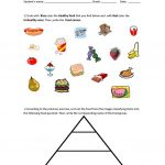 Food Pyramid   Healthy And Unhealthy Food. Worksheet   Free Esl | Free Printable Healthy Eating Worksheets