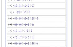 Free Printable 4Th Grade Math Fraction Worksheets