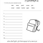 Free Back To School Worksheets And Printouts | Printable School Worksheets
