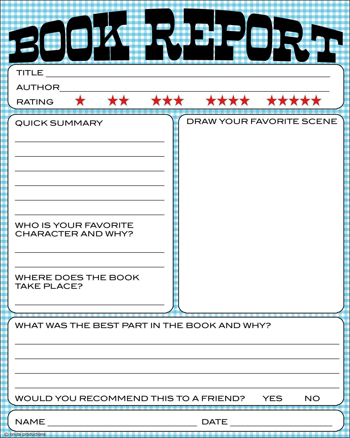 Free Book Report Printable - Great For Lower Primary Grades. It Also | Printable Book Report Worksheets