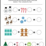 Free Christmas Themed Picture Math Worksheet – Love Note Printables | Free Printable Christmas Math Worksheets Kindergarten