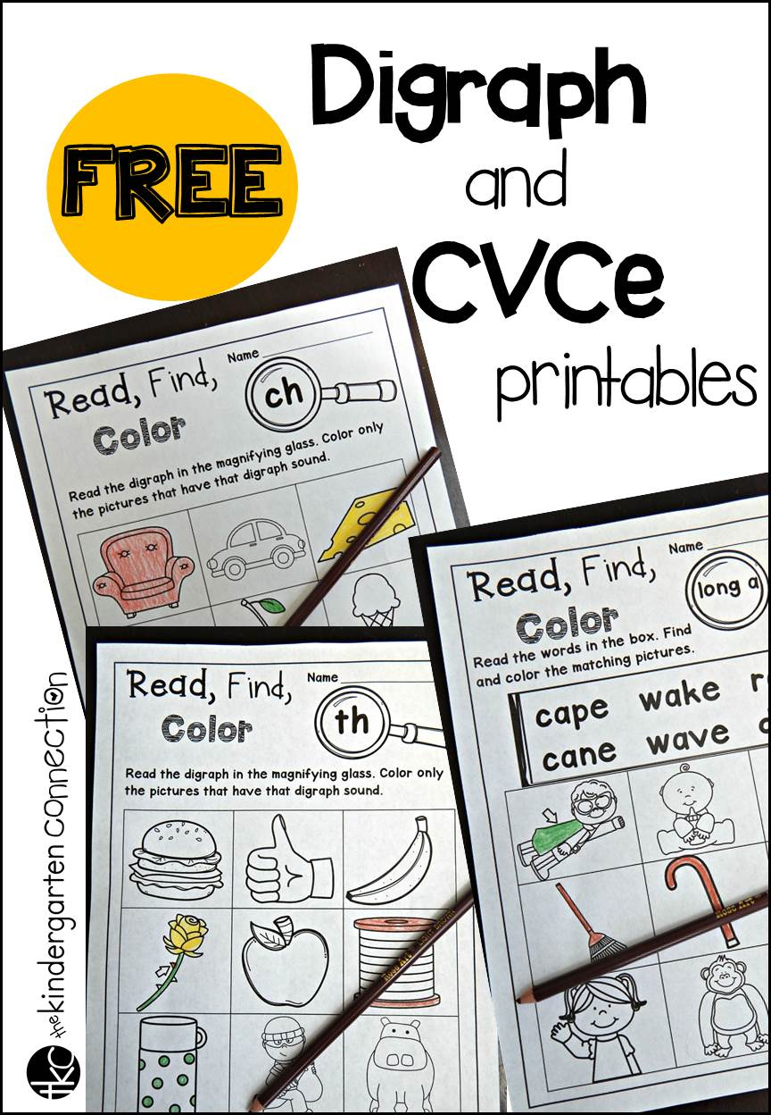 Free Digraph And Cvce Printables - The Kindergarten Connection | Free Printable Digraph Worksheets For First Grade