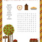 Free Fall Festive Apple Picking Word Search Printable Worksheet | Fall Word Search Printable Worksheets