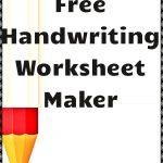 Free Handwriting Worksheet Maker! | Kindergartenklub | Worksheet | Printable Worksheet Maker