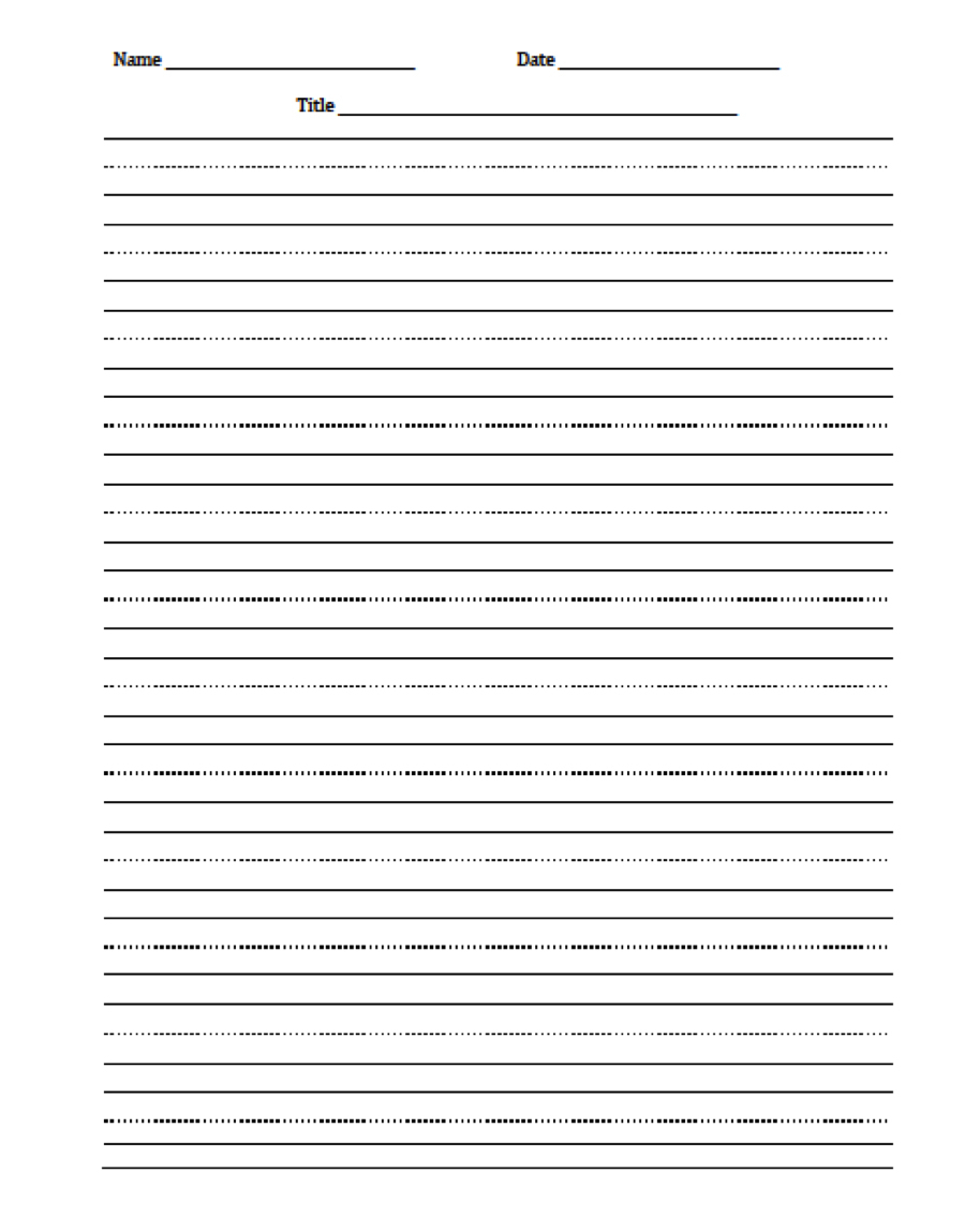 Free Handwriting Worksheets For Preschool – With 4 Year Olds Also | Blank Handwriting Worksheets Printable Free
