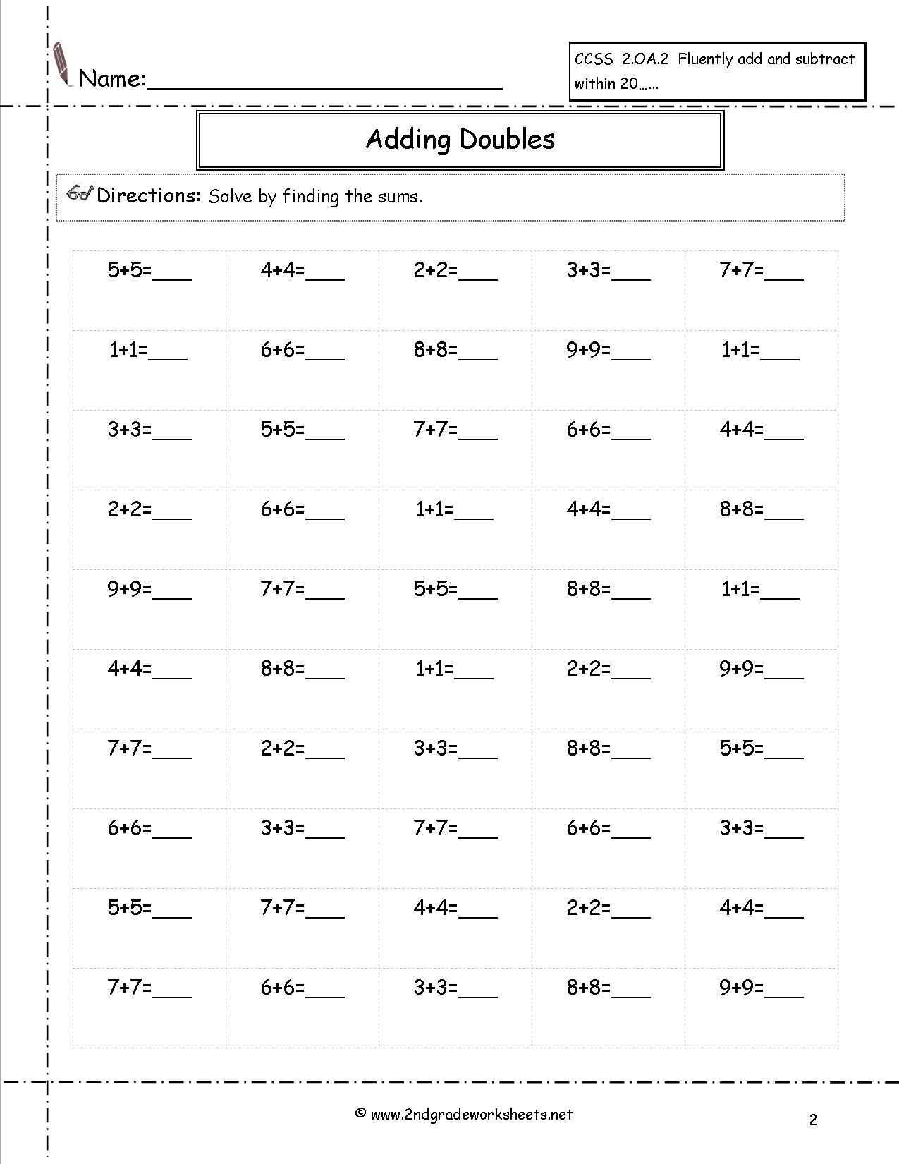 Free Math Worksheets And Printouts | Multiplication Worksheets Grade 2 Printable
