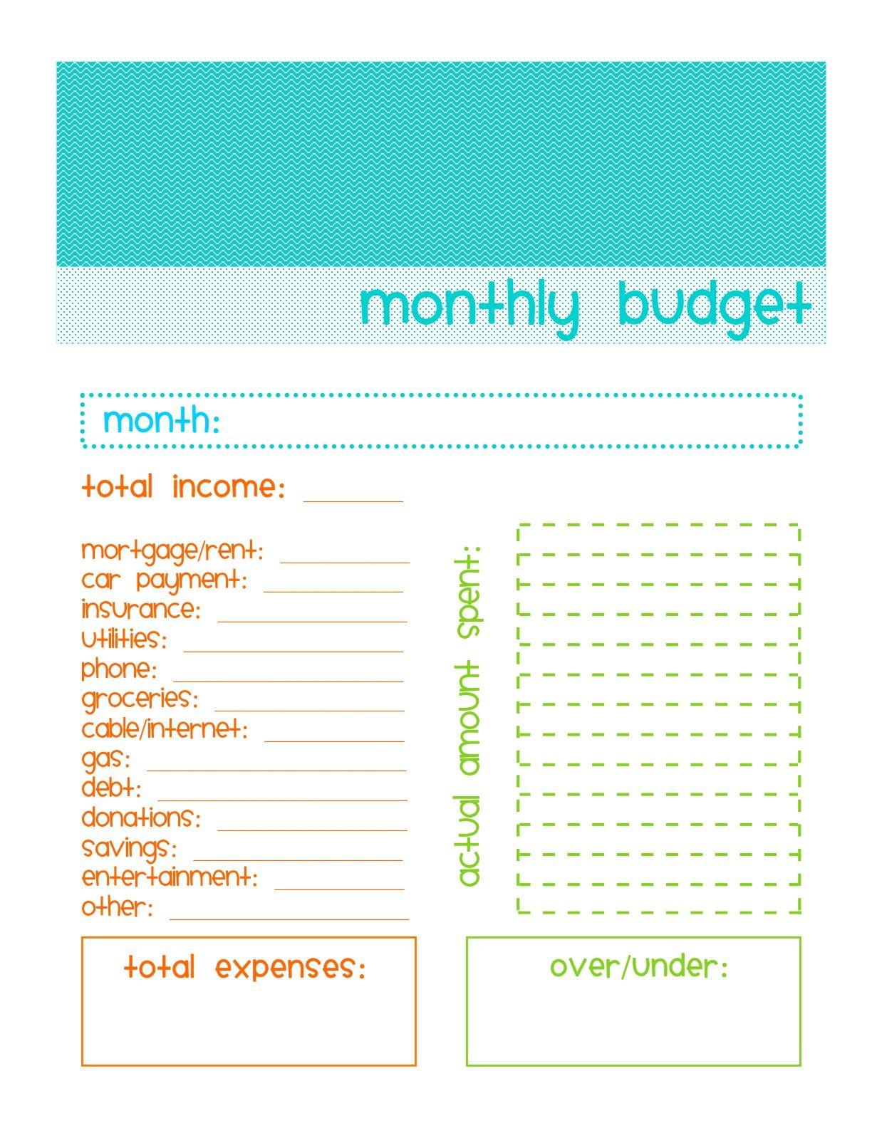 Impressive Simple Budget Template Printable Ideas Weekly ...
