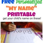 Free Name Tracing Worksheet Printable + Font Choices | Handwriting Names Printable Worksheets