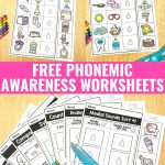 Free Phonemic Awareness Worksheets   Interactive And Picture Based   Free Printable Phoneme Segmentation Worksheets
