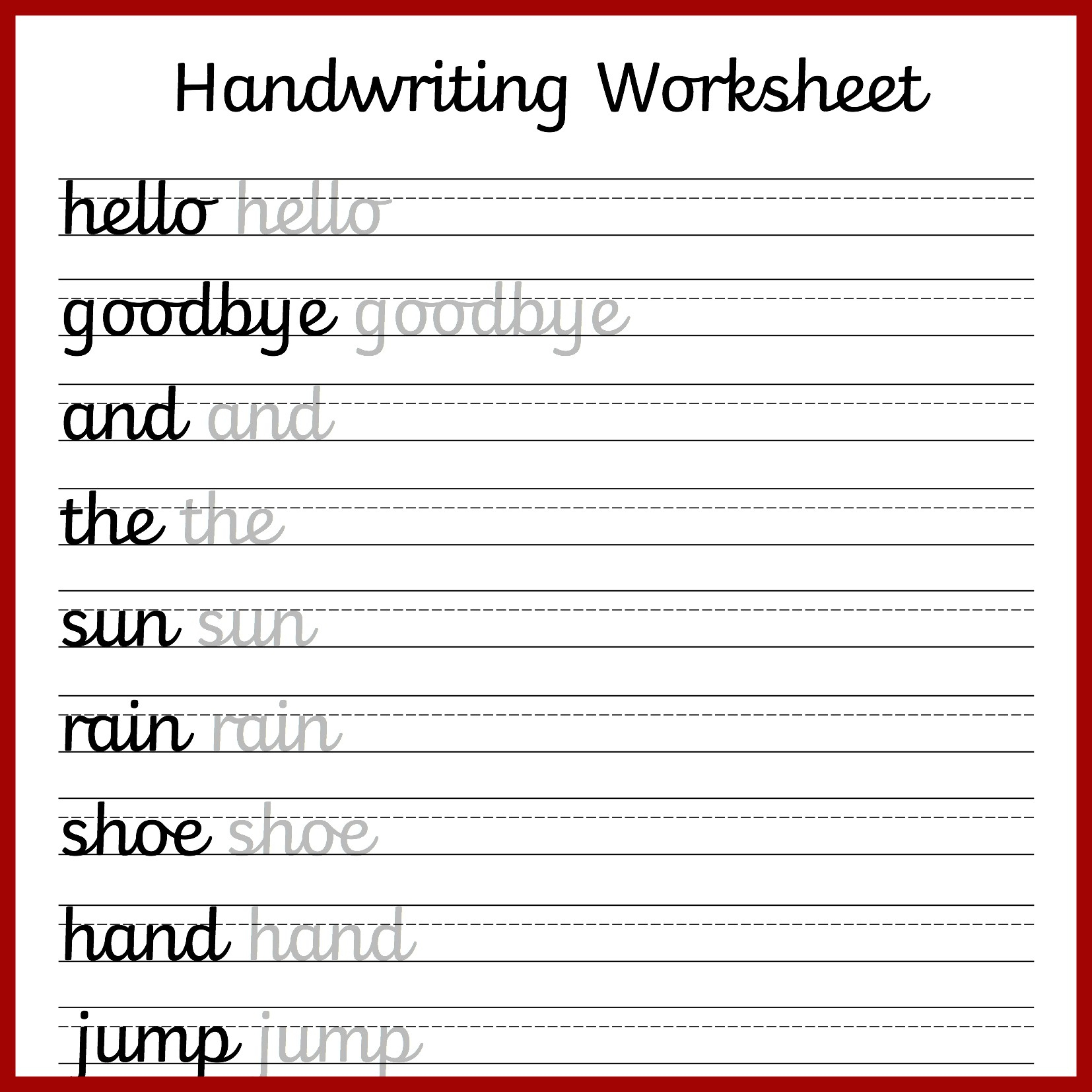 Free Preschool Writing Worksheets – With Kindergarten Handwriting | Free Printable Writing Worksheets For Kindergarten