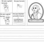 Free President's Day Writing Worksheet | Kindergarten Writing And | George Washington Printable Worksheets