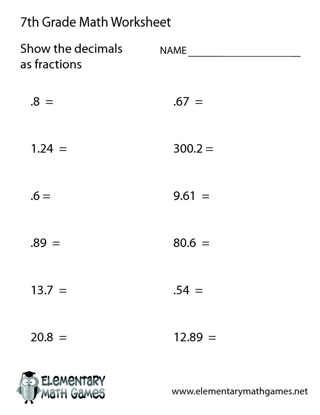 Free Printable 7Th Grade Math Worksheets | Lostranquillos - Free | Free Printable 7Th Grade Math Worksheets