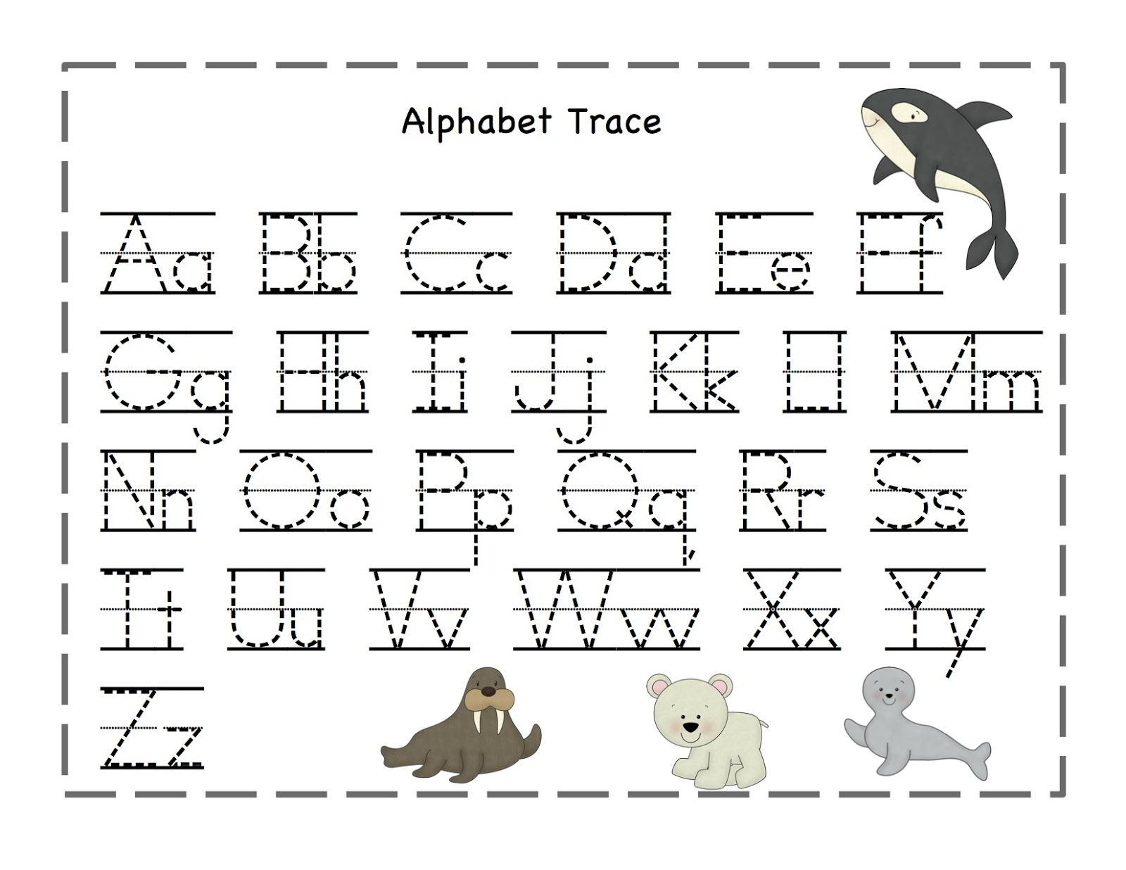 Free Printable Alphabet Tracing Worksheets Number For Kindergarten | Free Printable Tracing Letters And Numbers Worksheets