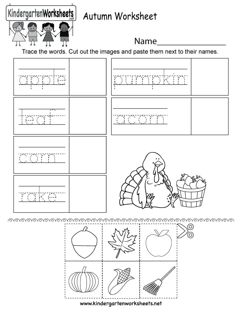 Free Printable Autumn Worksheet For Kindergarten | Free Printable Leaf Worksheets