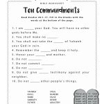 Free Printable Bible Worksheets For Youth – Worksheet Template | Bible Printable Worksheets