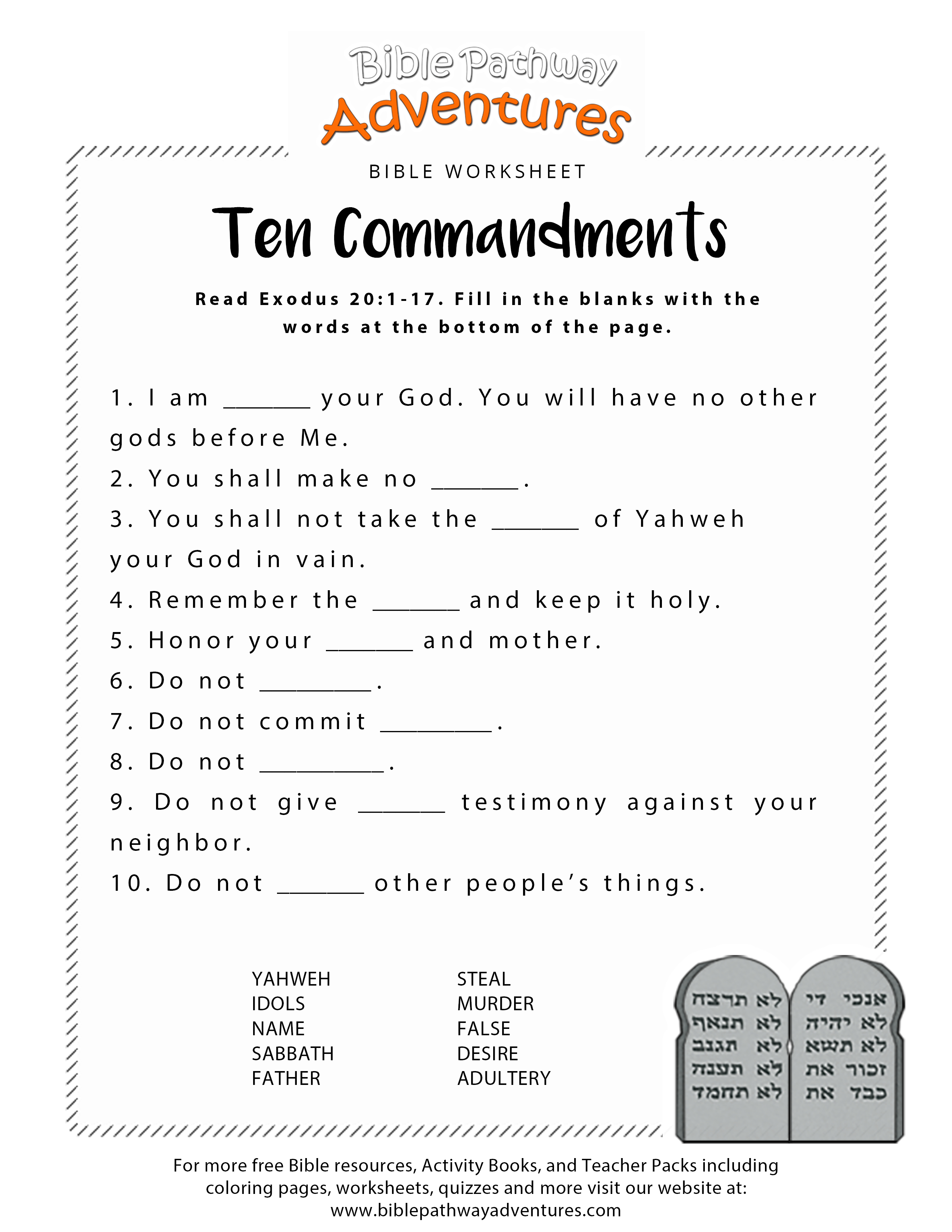 Free Printable Bible Worksheets For Youth – Worksheet Template | Books Of The Bible Printable Worksheets