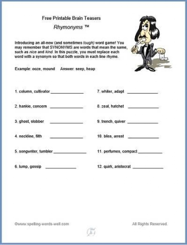 Free Printable Brain Teasers | Brain Games And Teasers | Pinterest | Printable Brain Teaser Worksheets For Adults