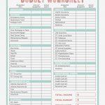 Free Printable Budget Worksheets Dave Ramsey Unique Bud Worksheet | Free Printable Budget Worksheets
