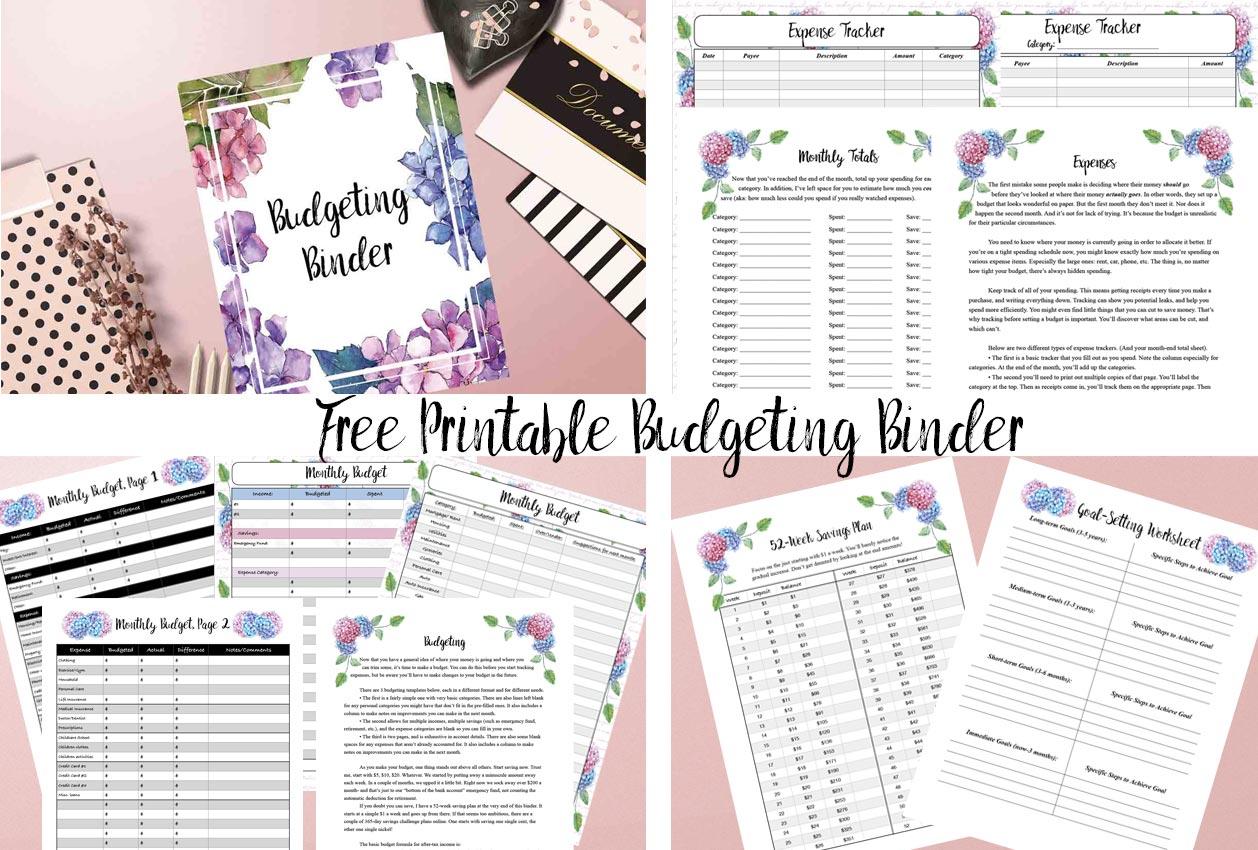 Free Printable Budgeting Binder: 15+ Pages!   Printable Budget Binder Worksheets