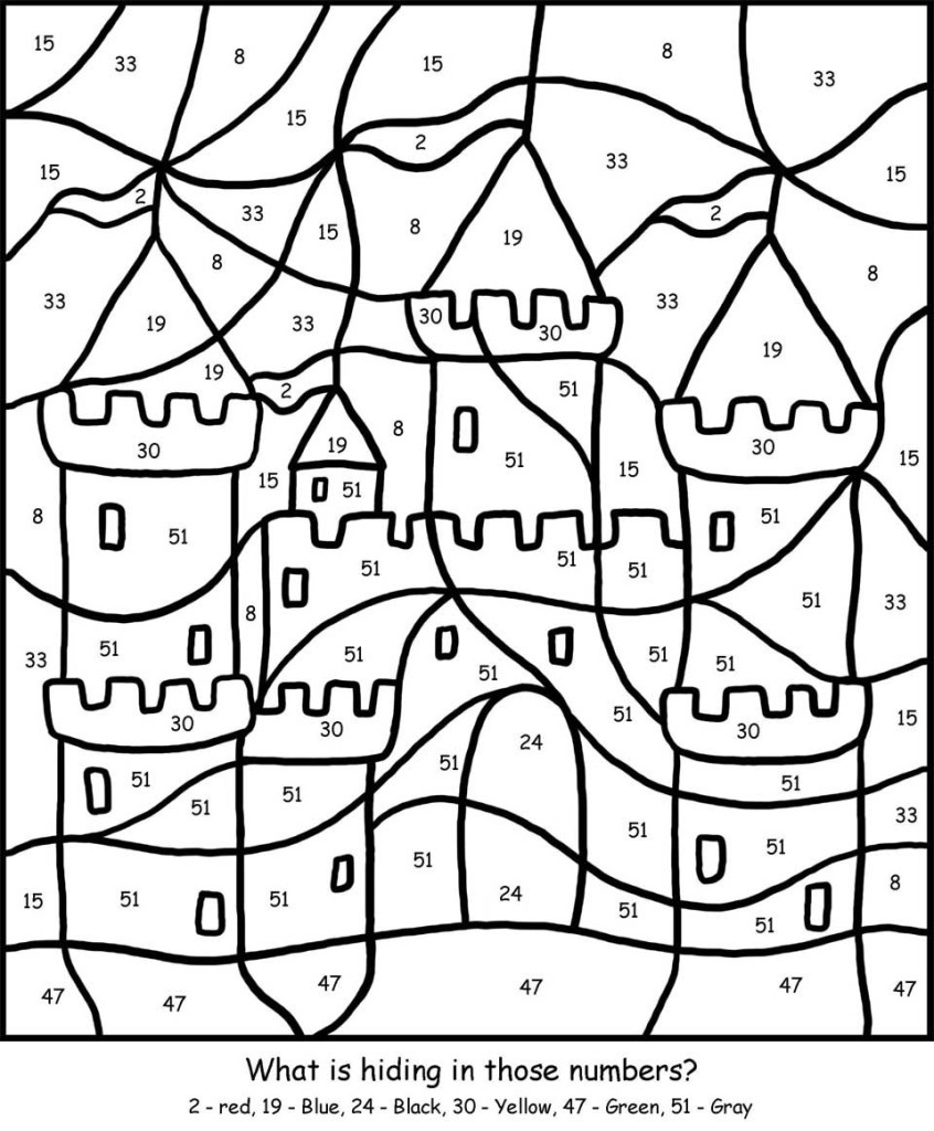 Free Printable Colornumber Coloring Pages - Best Coloring Pages | Colouring Worksheets Printable