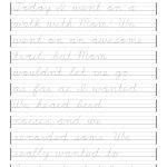 Free Printable Cursive Handwriting Worksheets | Free Printables | Free Printable Cursive Writing Sentences Worksheets