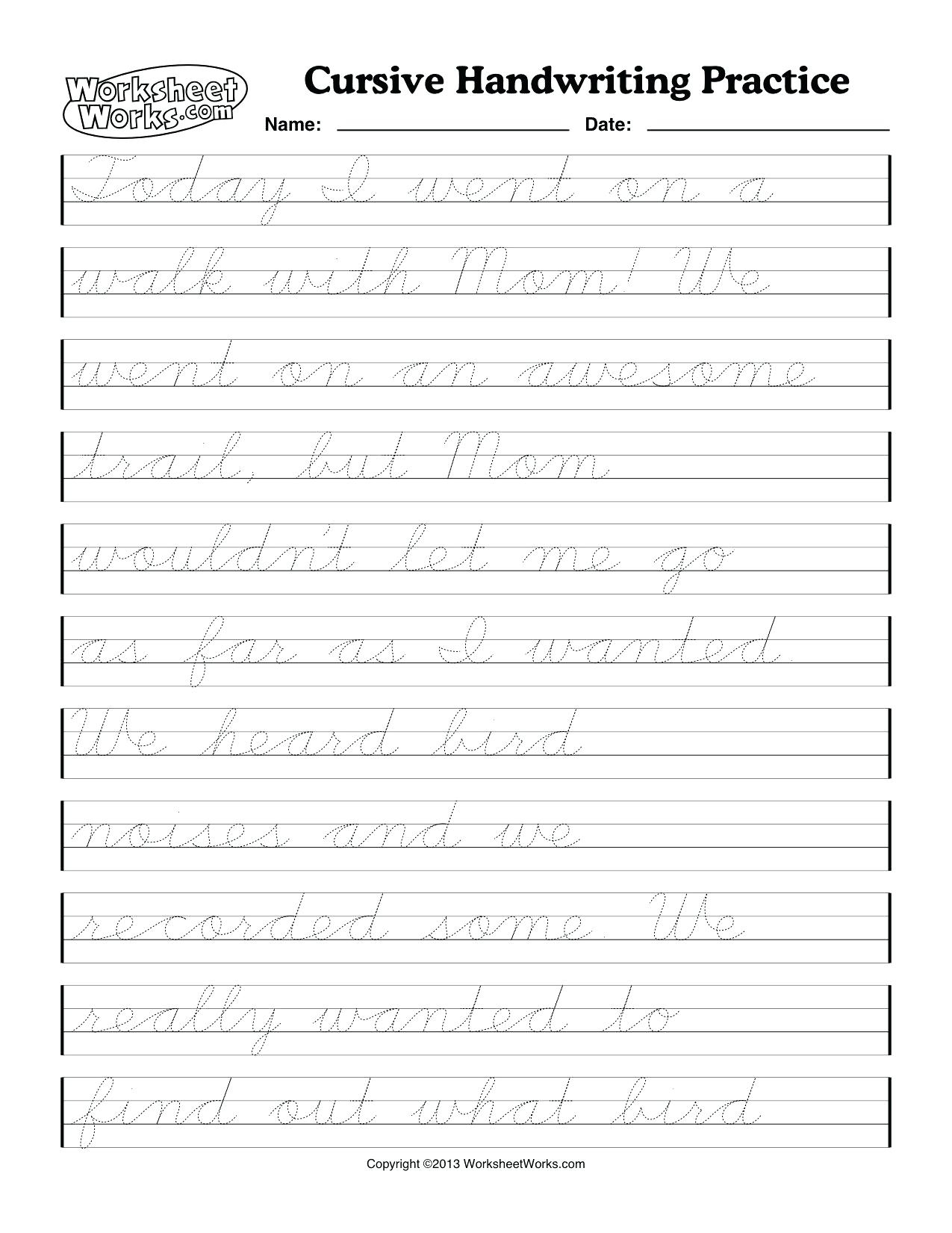 Free Printable Cursive Handwriting Worksheets | Free Printables | Free Printable Cursive Writing Sentences Worksheets