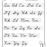 Free Printable Cursive Handwriting Worksheets | Free Printables | Printable Cursive Handwriting Worksheets Alphabet
