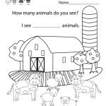 Free Printable Educational Coloring Worksheet For Kindergarten | Free Printable School Worksheets