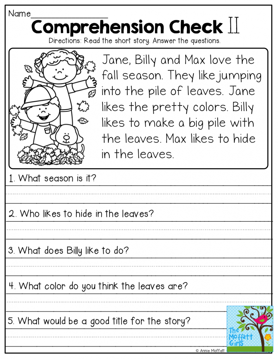 Free Printable English Comprehension Worksheets For Grade 4 | Free | Free Printable English Comprehension Worksheets For Grade 4