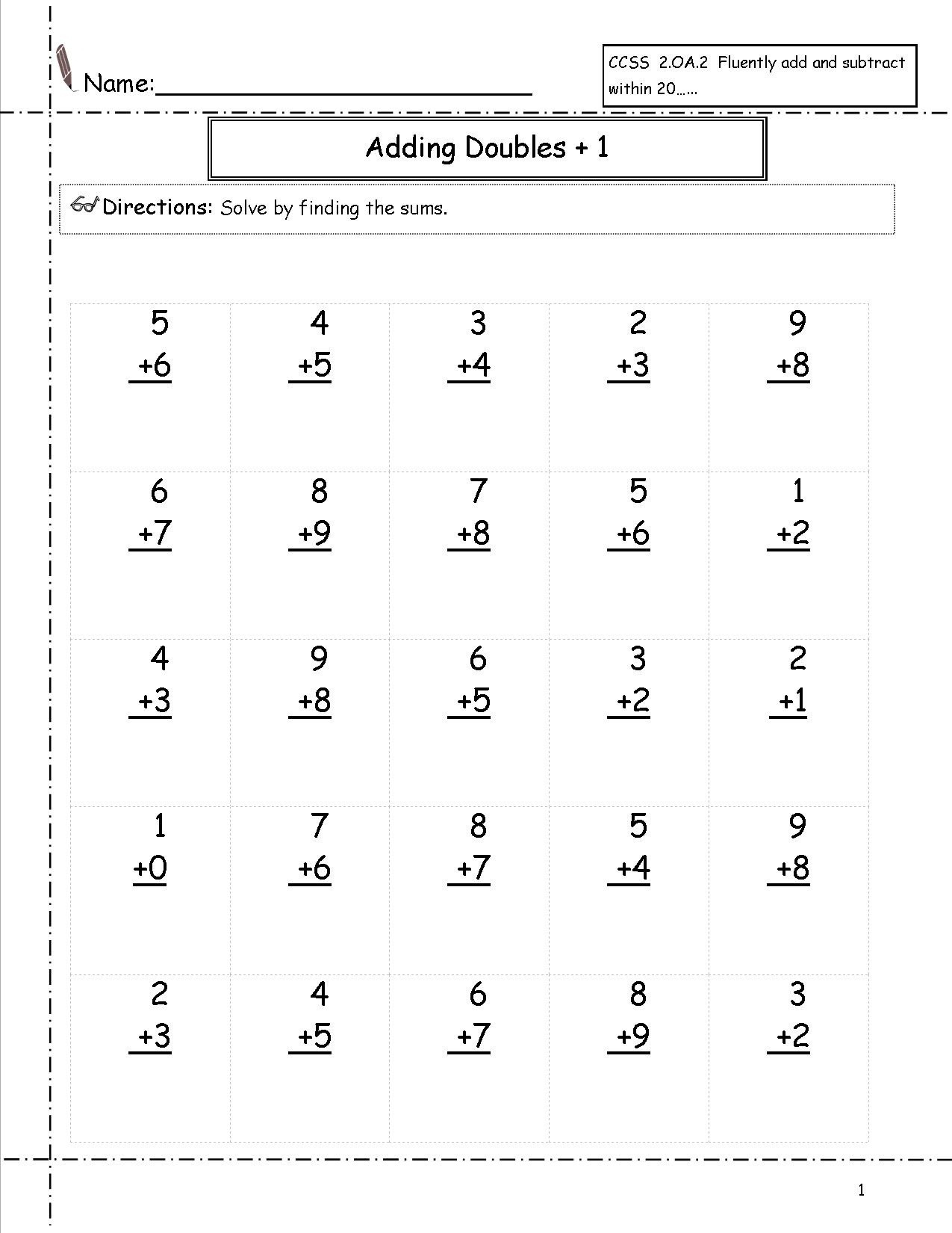 Free Printable First Grade Math Worksheets The Best Image 1275×1650 | Free Printable First Grade Math Worksheets