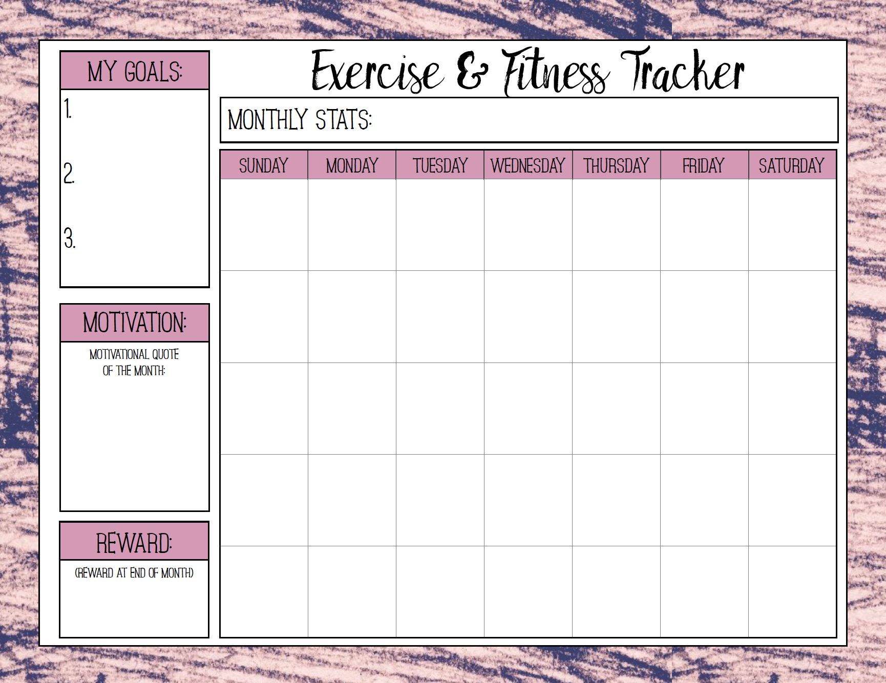 Free Printable Fitness Trackers: 3 Different Monthly Designs | Free Printable Fitness Worksheets
