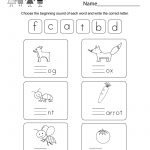 Free Printable Free Phonics Worksheet For Kindergarten | Free Printable Phonics Worksheets