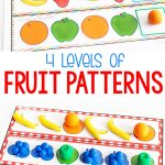 Free Printable Fruit Themed Pattern Activity   Life Over Cs | Free Printable Ab Pattern Worksheets