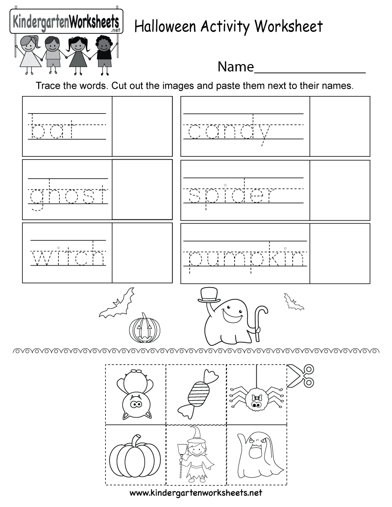 Free Printable Halloween Activity Worksheet For Kindergarten | Free Printable Kid Activities Worksheets