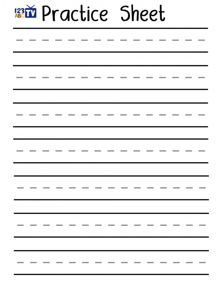 Free Printable Handwriting Worksheets For Kids