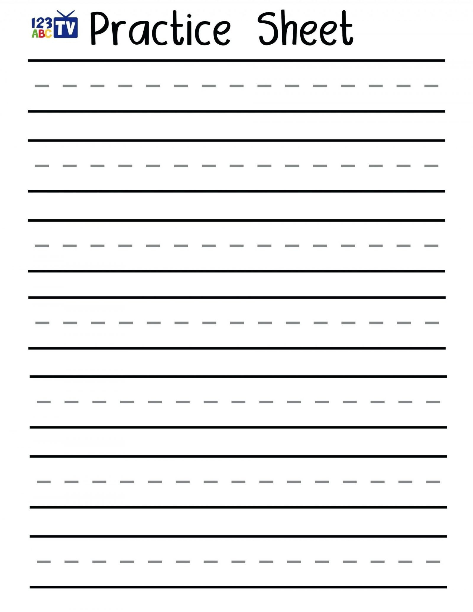 Free Printable Handwriting Sheets For Kindergarten | Free Printables | Free Printable Handwriting Worksheets For Preschool