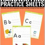 Free Printable Handwriting Worksheets Including Pre Writing Practice | Free Printable Worksheets Handwriting Practice