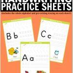 Free Printable Handwriting Worksheets Including Pre Writing Practice | Printable Handwriting Worksheets
