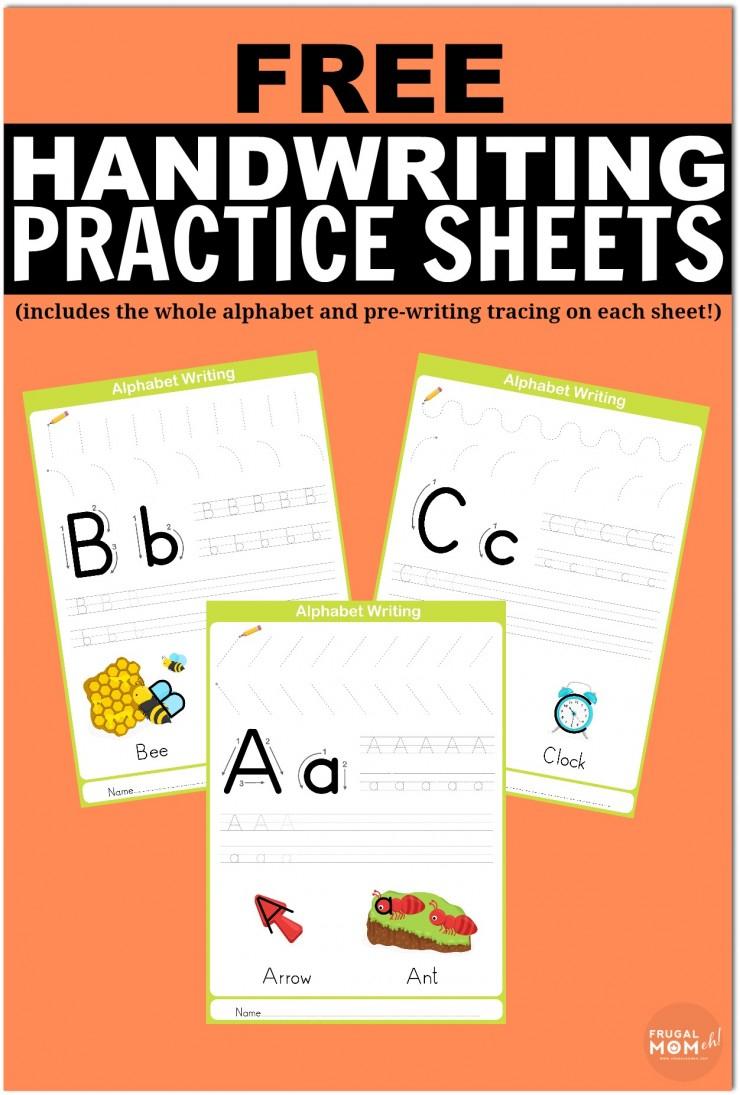Free Printable Handwriting Worksheets Including Pre-Writing Practice | Printable Handwriting Worksheets