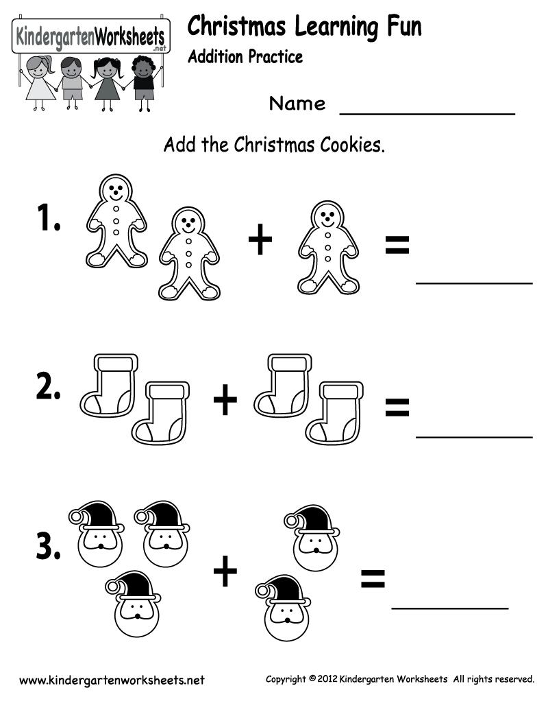 Free Printable Holiday Worksheets | Free Christmas Cookies Worksheet | Free Printable Christmas Kindergarten Worksheets