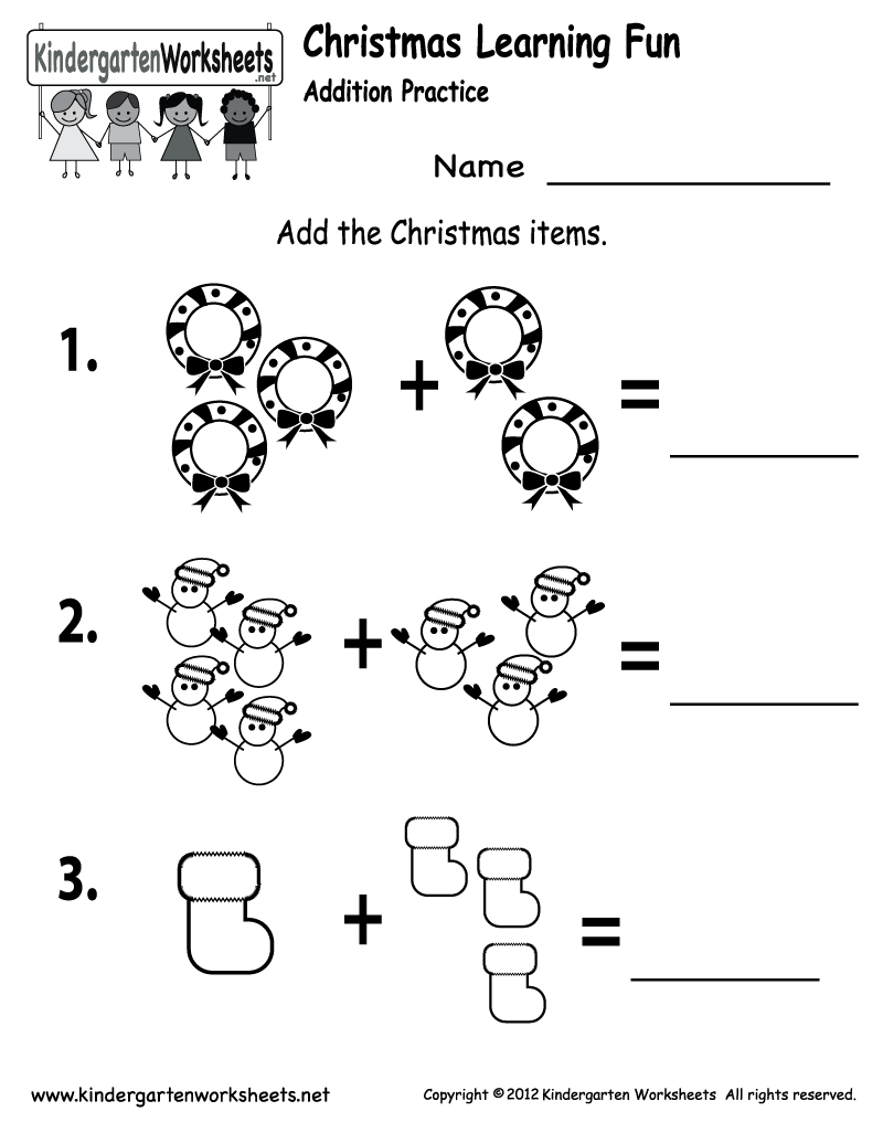 Free Printable Holiday Worksheets | Free Printable Kindergarten | Christmas Worksheets Printables For Kindergarten