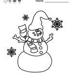 Free Printable Holiday Worksheets | Kindergarten Winter Coloring | Free Printable Winter Preschool Worksheets