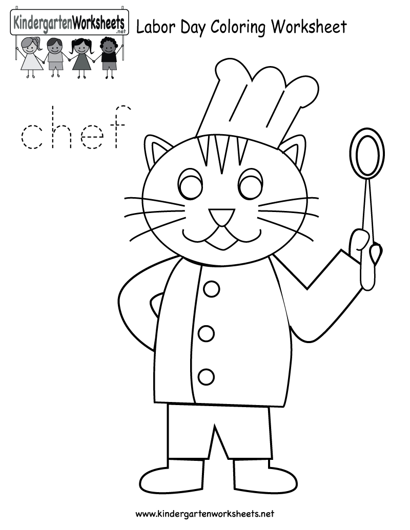 Free Printable Labor Day Coloring Worksheet For Kindergarten   Free Printable Labor Day Worksheets