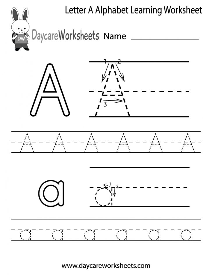 Alphabet Worksheets For Preschoolers Printable