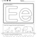 Free Printable Letter E Coloring Worksheet For Kindergarten | Letter E Printable Worksheets