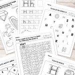 Free Printable Letter H Worksheets   Alphabet Worksheets Series | Free Printable Letter Recognition Worksheets