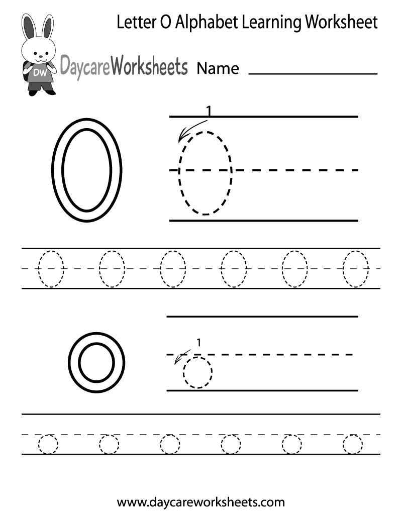 Free Printable Letter O Alphabet Learning Worksheet For Preschool | Letter O Printable Worksheets