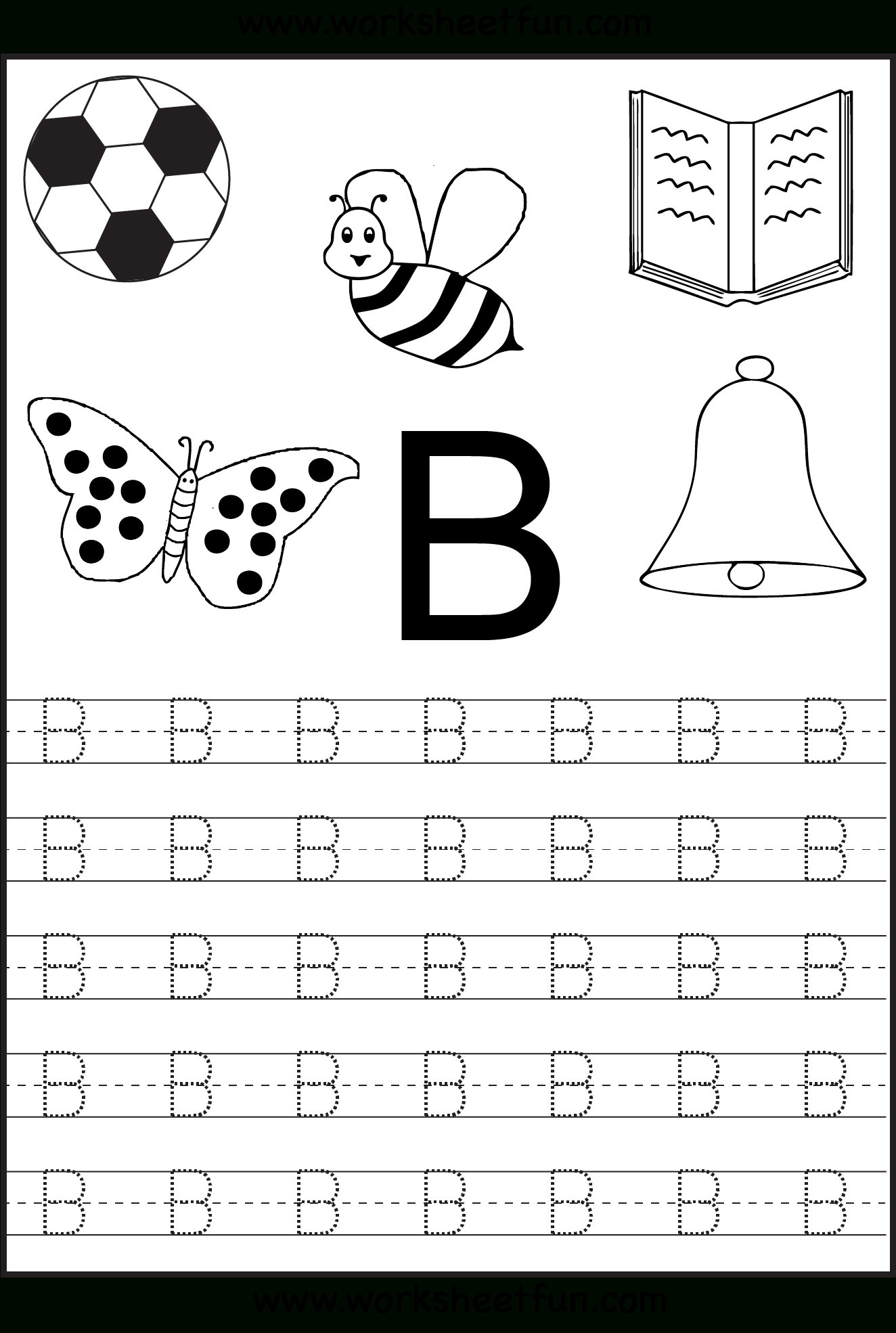 Free Printable Letter Tracing Worksheets For Kindergarten – 26 | Printable Worksheets For Preschoolers The Alphabets