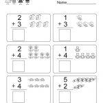 Free Printable Math Addition Worksheet For Kindergarten | Free Printable Math Addition Worksheets For Kindergarten
