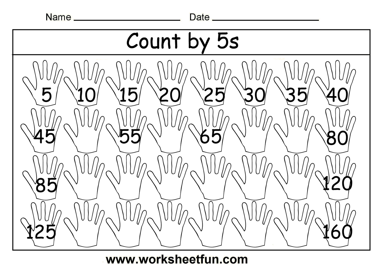 Free Printable Math Worksheets Count5S … | Patterns And | Free Printable Skip Counting Worksheets